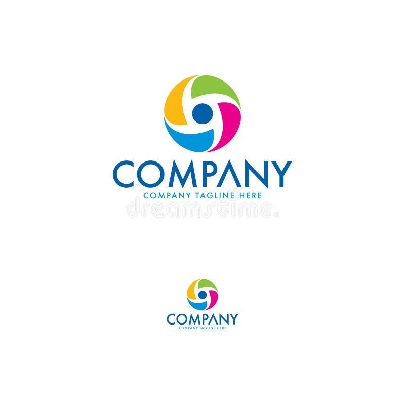 圈子摘要五颜六色的商标设计 向量例证