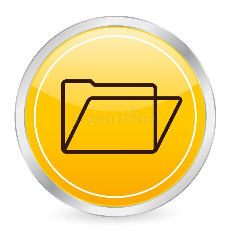 圈子文件夹图标黄色 向量例证