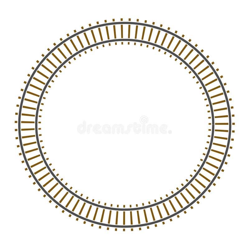 圈子无限铁路轨道培训 向量例证