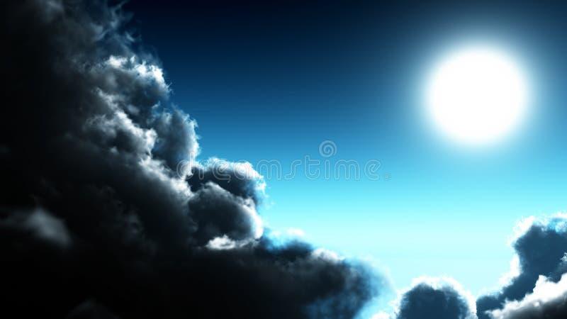 圈子月亮发光 免版税库存图片