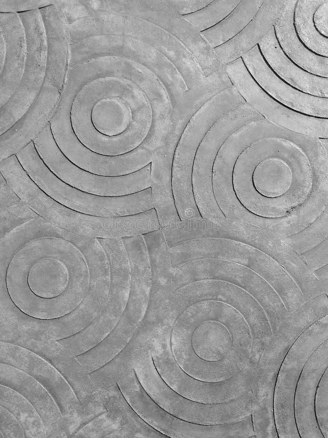 圈子标记在混凝土的 免版税库存图片