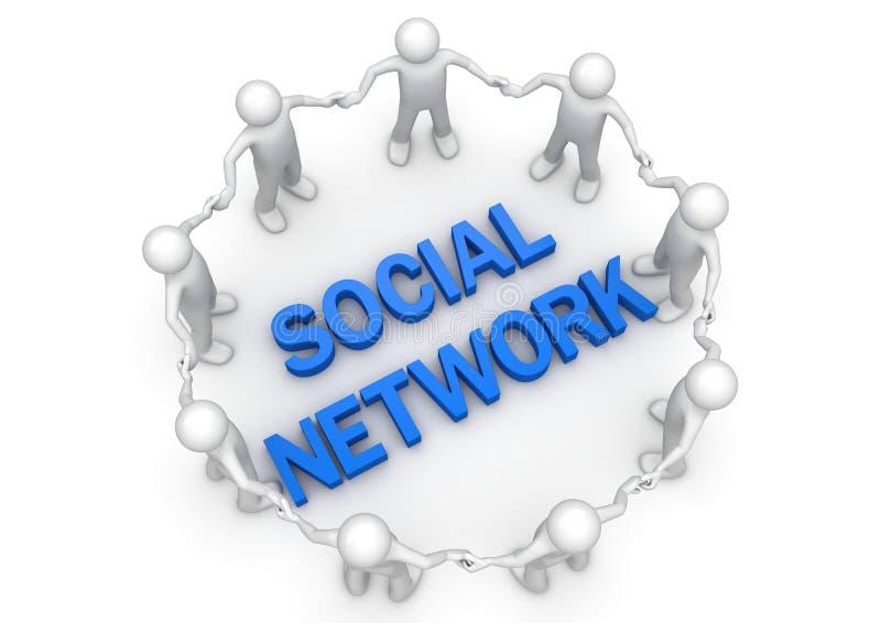 圈子概念网络人社交 库存例证