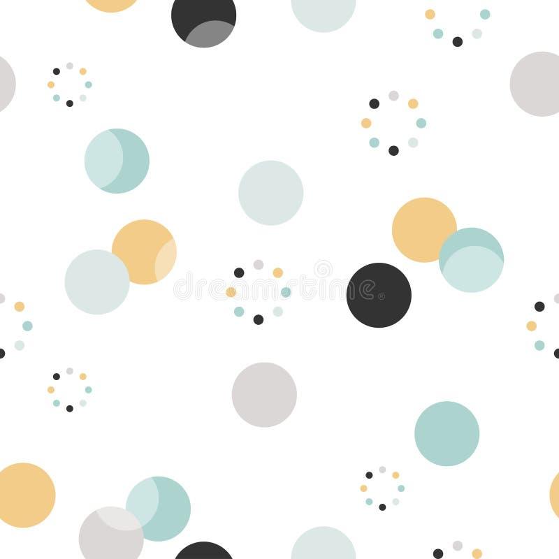 圈子模式 现代时髦的纹理 重复小点,墙纸的圆的抽象背景 库存例证