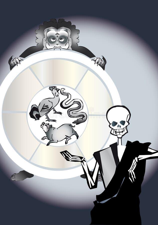 圈子死亡重生系列 向量例证
