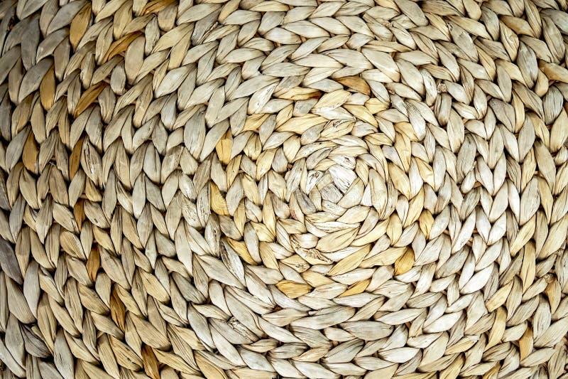 圈子海草被编织的样式的织地不很细背景,特写镜头背景 库存照片