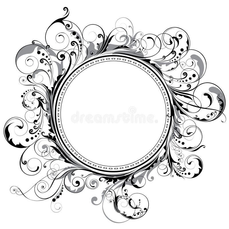 圈子漩涡框架 库存例证