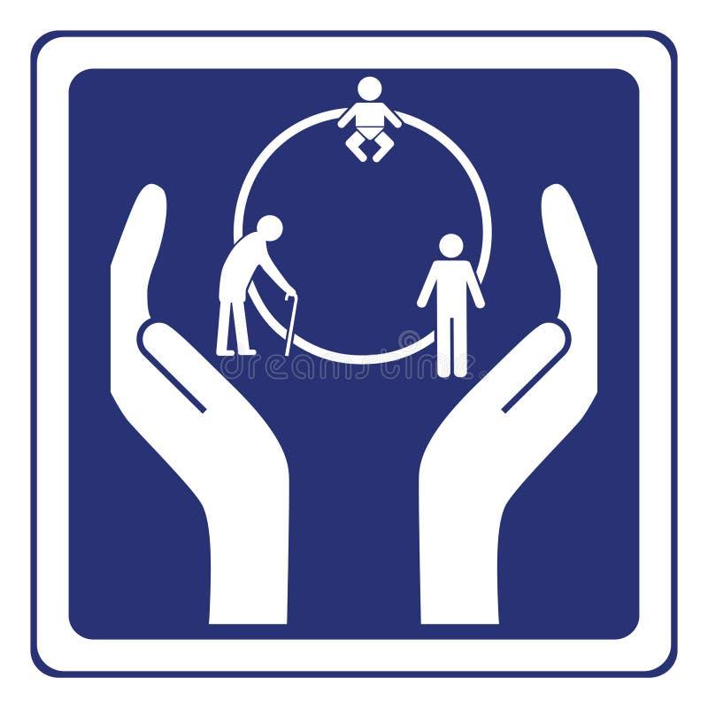 圈子生活符号 库存例证