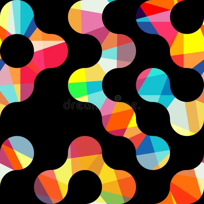 圈子的传染媒介几何样式 色的无缝的背景 皇族释放例证