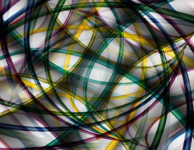 从圈子的抽象五颜六色的背景 皇族释放例证