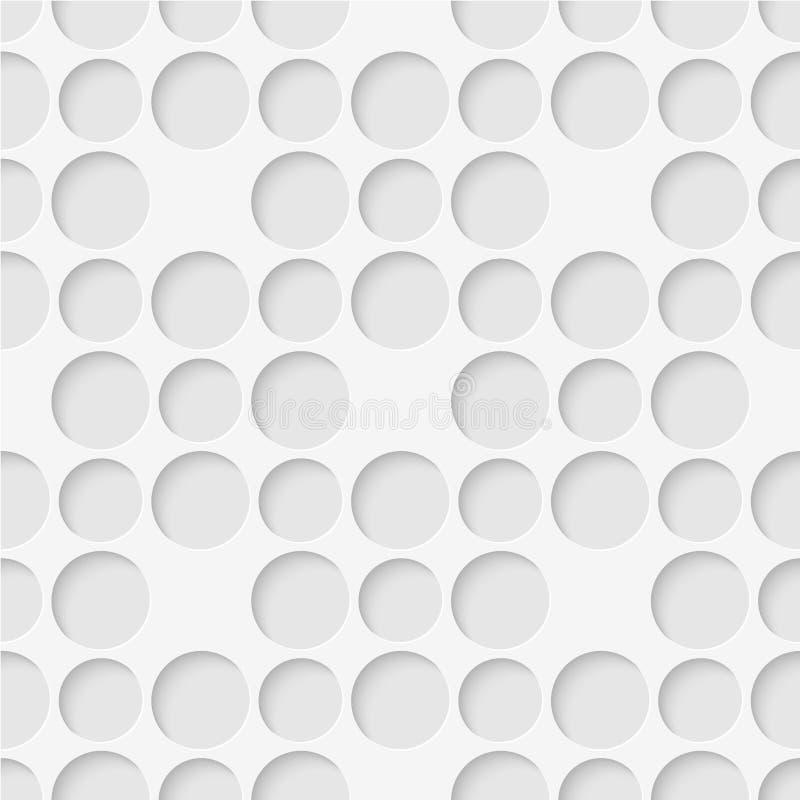 圈子的无缝的模式 几何墙纸 异常lattic 库存例证