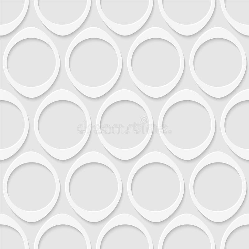 圈子的无缝的模式 几何墙纸 皇族释放例证