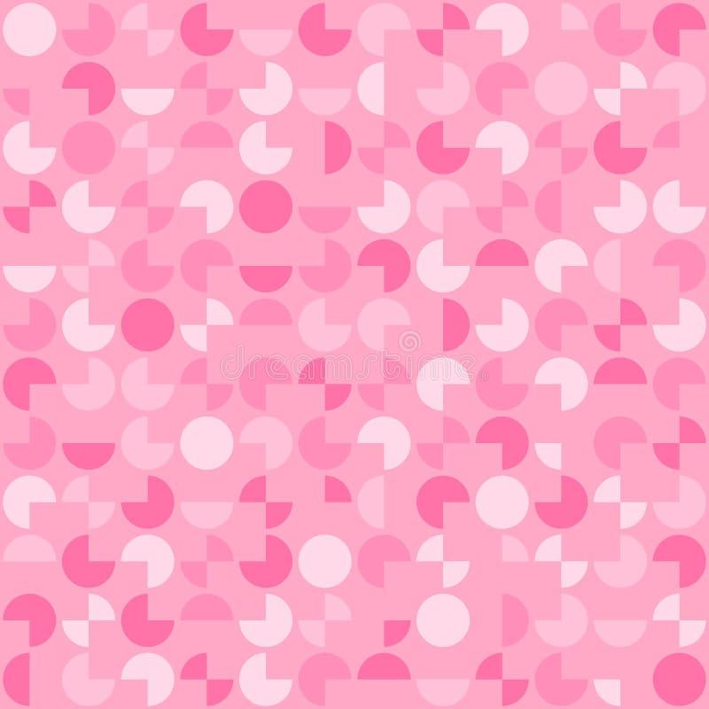圈子的段 传染媒介连续的无缝的样式 E 简单的桃红色反复背景 纺织品pai 向量例证