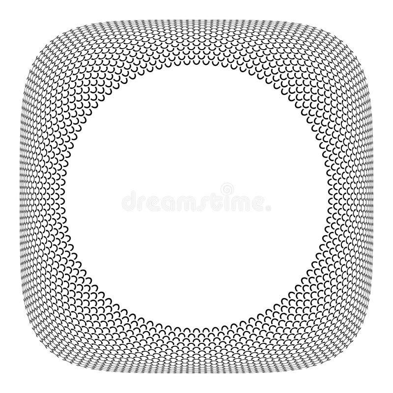 框架设计 圈子称在凸面方形的形状的样式 库存例证