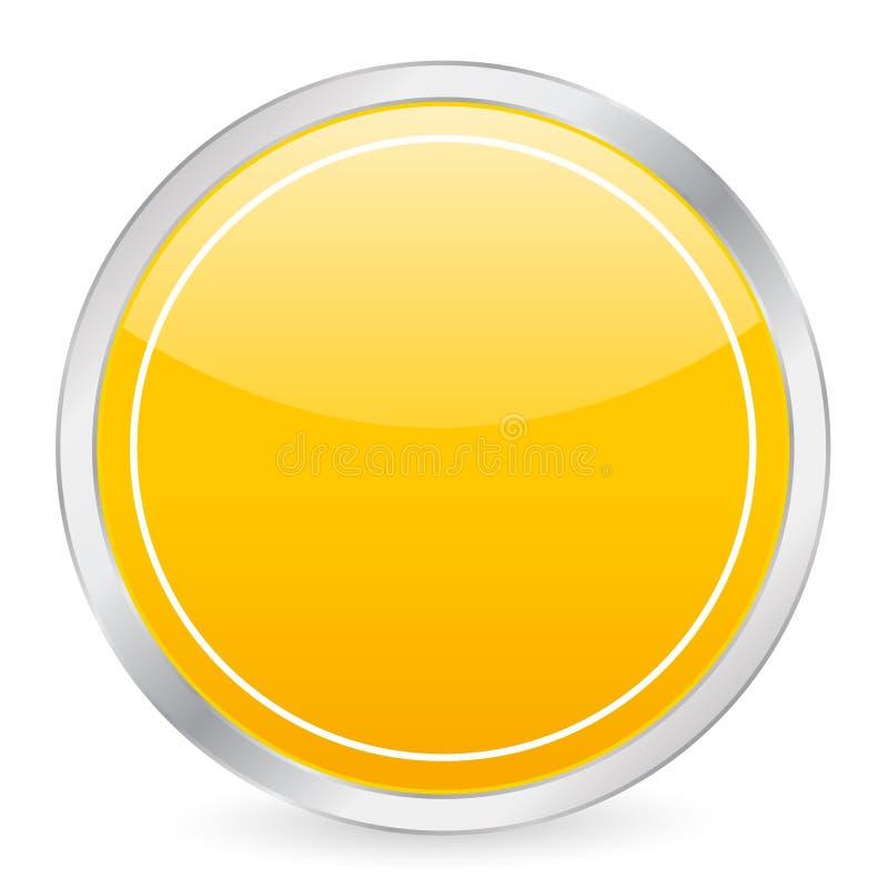 圈子空的图标黄色 向量例证
