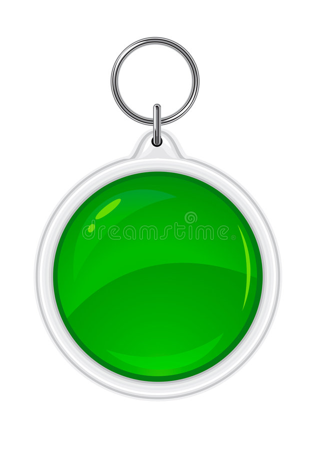 圈子绿色纪念品小装饰品向量 皇族释放例证