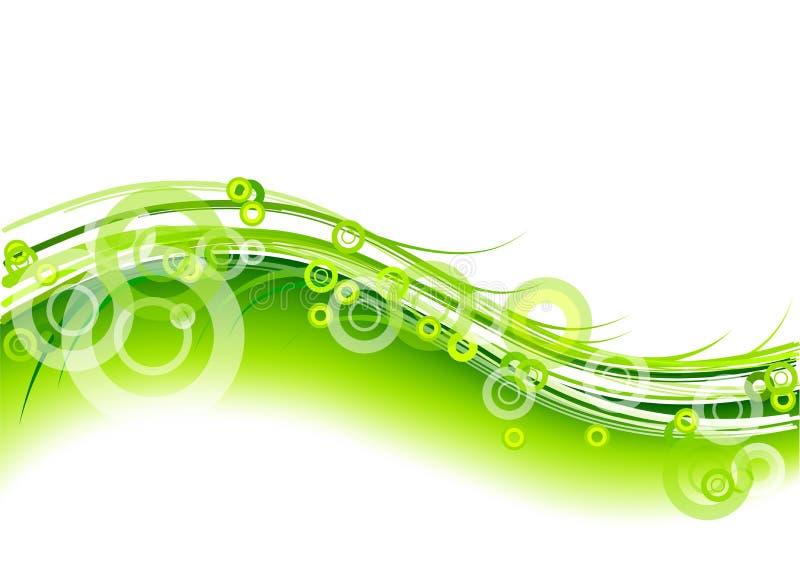圈子绿色 库存例证