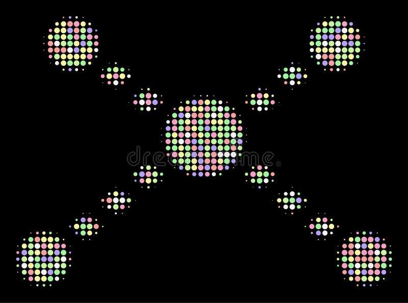 圈子被加点的链接半音马赛克  向量例证