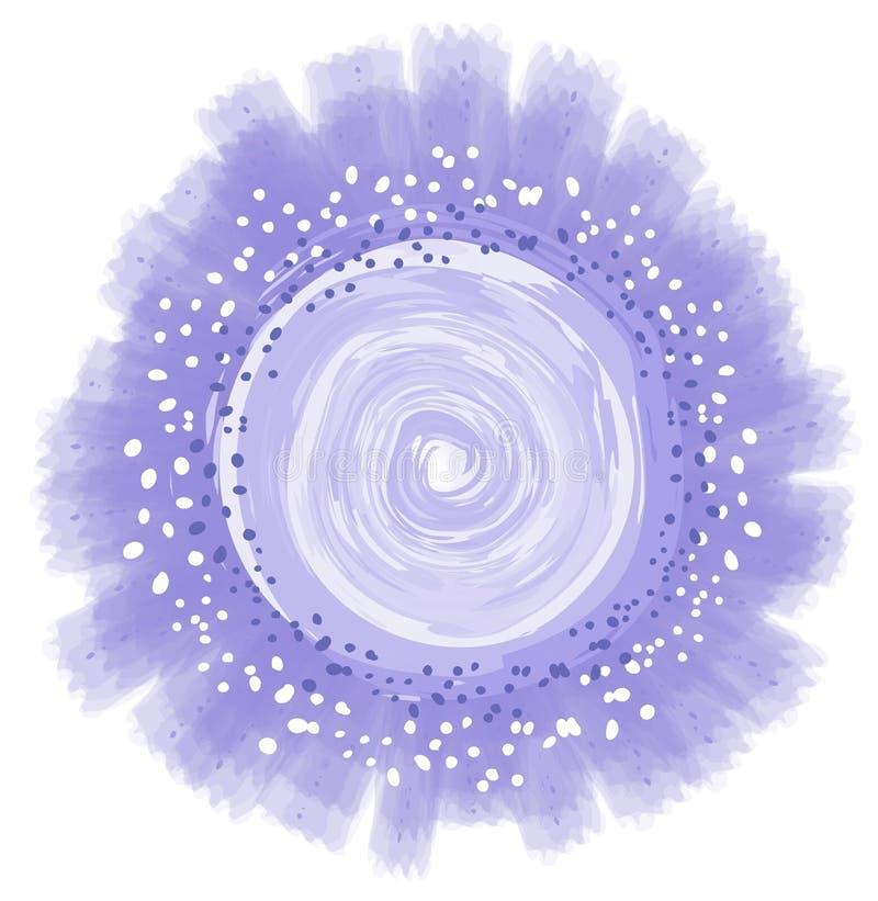 圈子被塑造的花徽标 向量例证