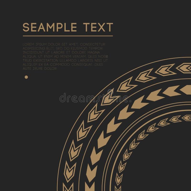 圈子装饰装饰框架 库存图片
