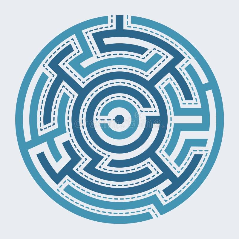 圈子迷宫例证 皇族释放例证