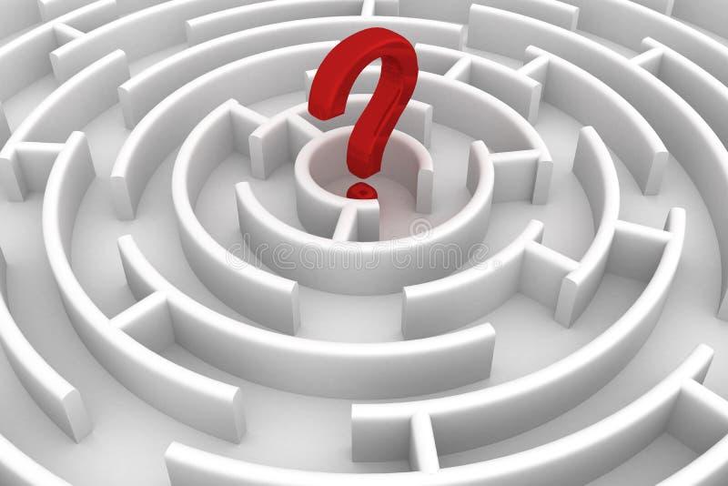 圈子迷宫白色 向量例证