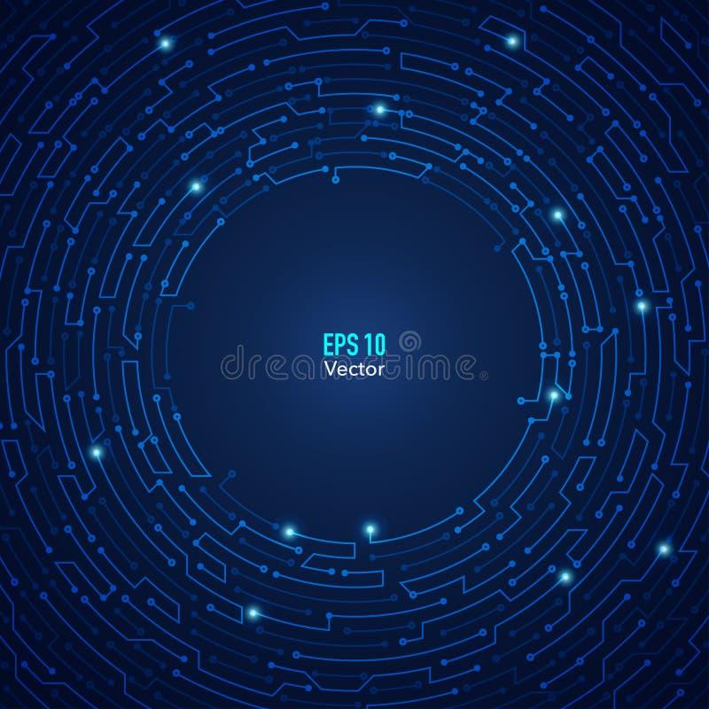 圈子迷宫背景 向量例证