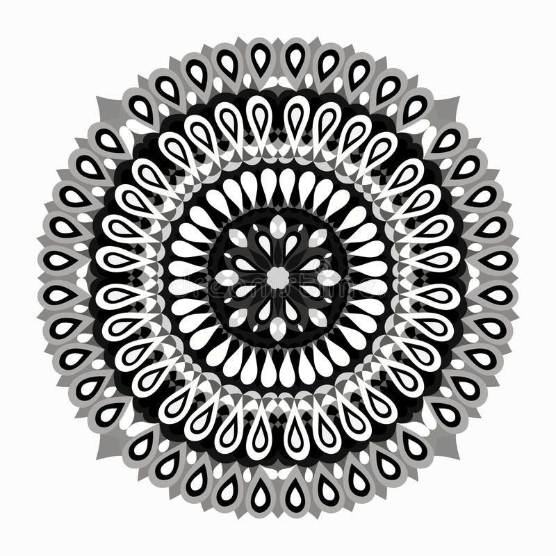 圈子鞋带装饰品,圆的装饰几何小垫布样式 向量例证