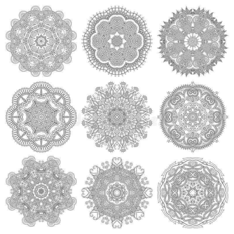 圈子鞋带装饰品,圆装饰几何 向量例证