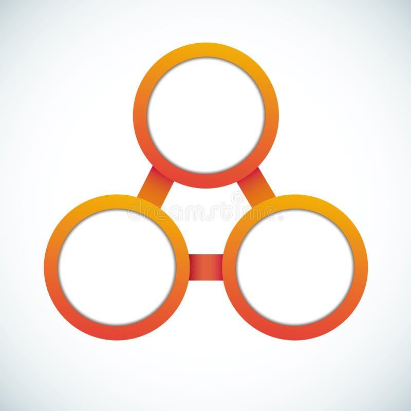 圈子颜色空的流程图营销 向量例证