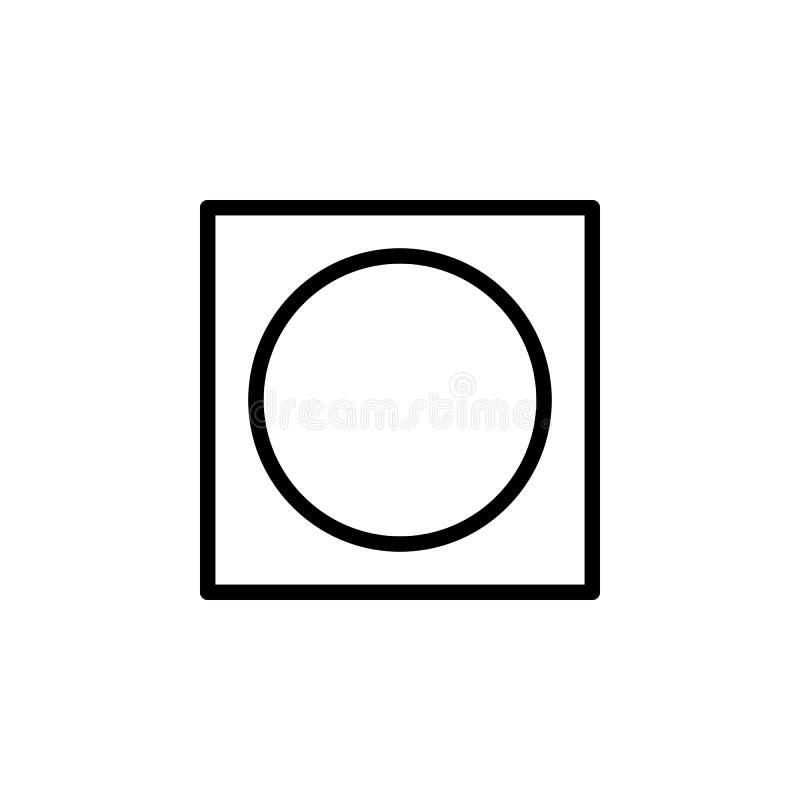 圈子,方形的象 能为网,商标,流动应用程序,UI,UX使用 皇族释放例证