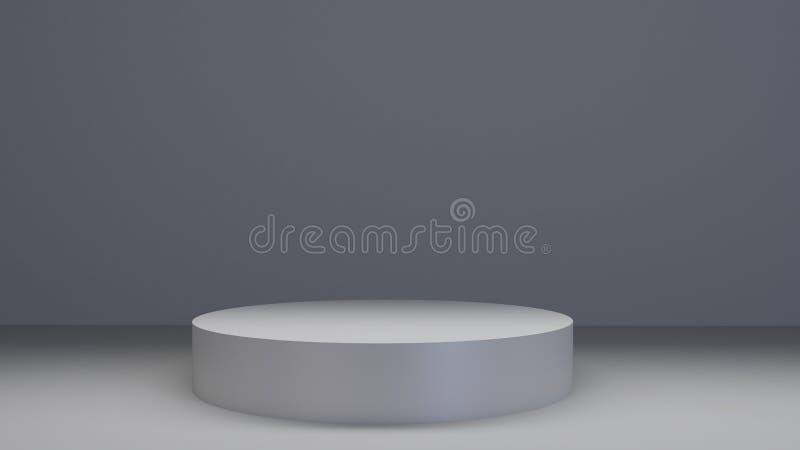 圈子3d回报银色指挥台 设计介绍 库存例证