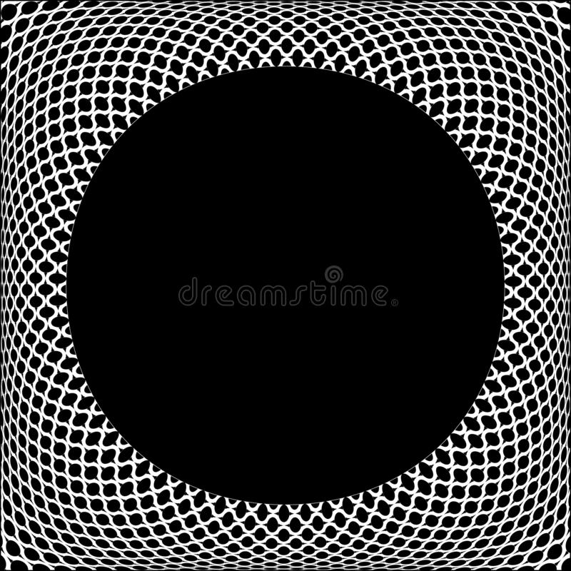 ??3D?? 几何凸面样式 在黑背景的白色纹理 皇族释放例证