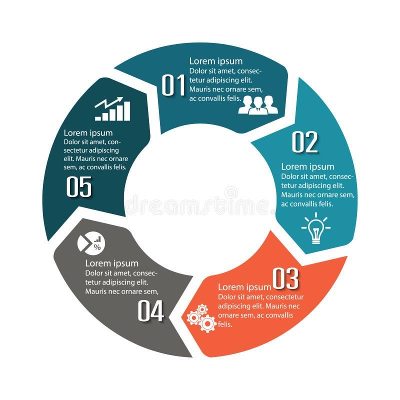 圈子infographic标签五选择 库存例证