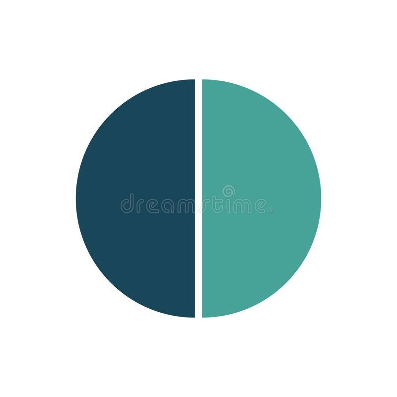 圈子infographic模板 与2个选择的传染媒介布局 能为周期图,圆的图,图表,年终报告使用, 向量例证