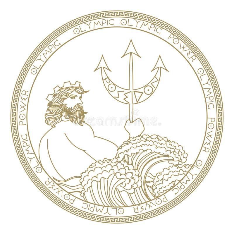 圈子poseidon商标设计 皇族释放例证