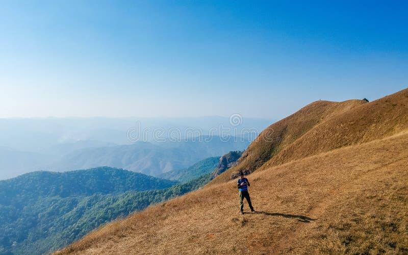 土井星期一Jong小山在ChiangMai,泰国 免版税图库摄影
