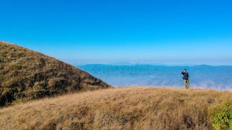 土井星期一Jong小山在ChiangMai,泰国 免版税库存照片