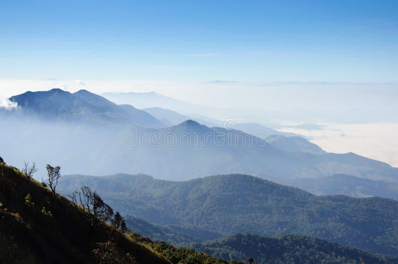 泰国山�^_从土井inthanon,泰国的高山的看法