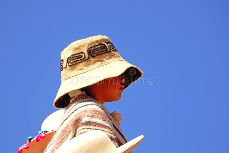 土产孩子在普纳岛 免版税库存图片