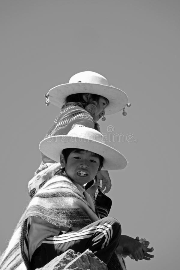 土产childs在普纳岛 免版税库存照片