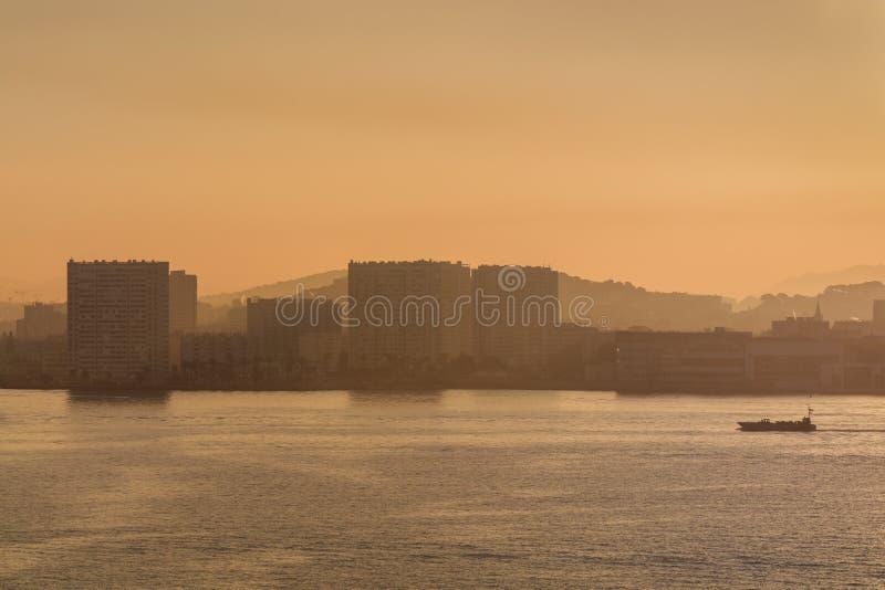 土伦,法国港  免版税库存照片