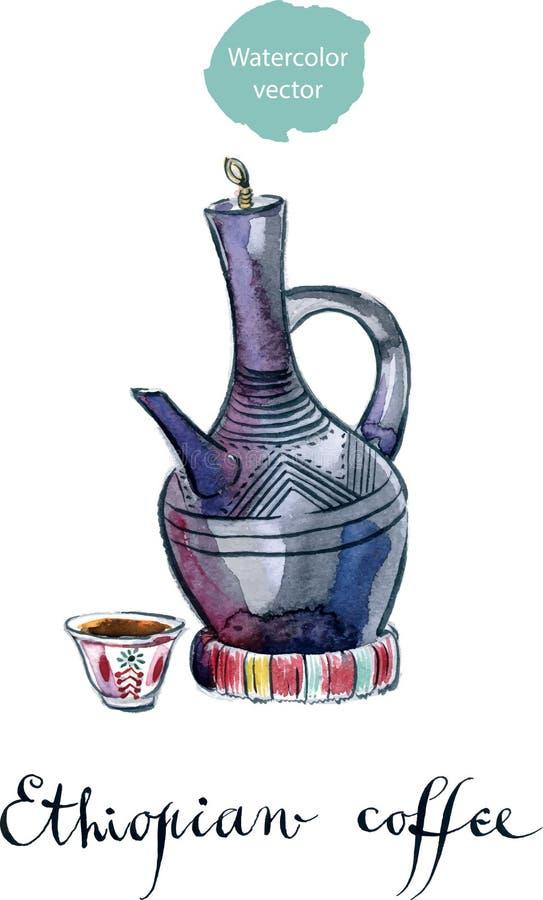 黏土咖啡罐 库存例证