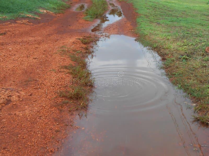 土地德罗萨路水定居 图库摄影
