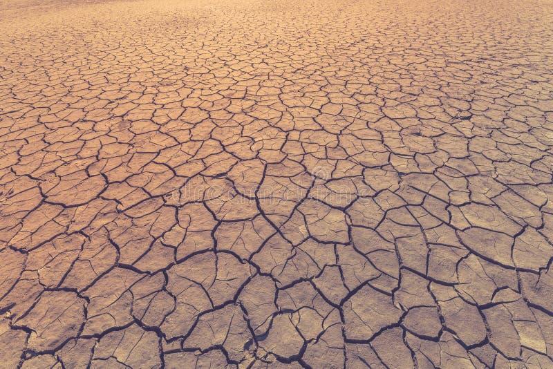 土地用镇压作为天旱的标志,极端天气情况包括或作为背景 被定调子的图象 免版税库存图片