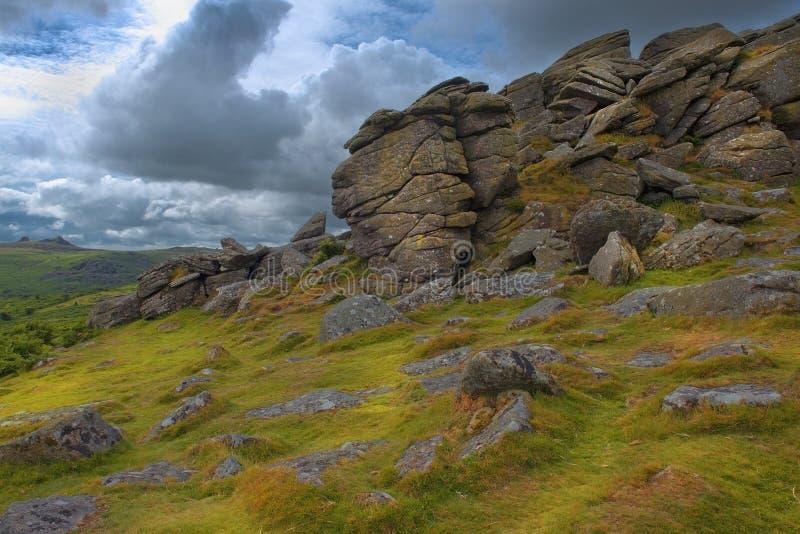 土地的末端风景在康沃尔郡英国 免版税库存图片