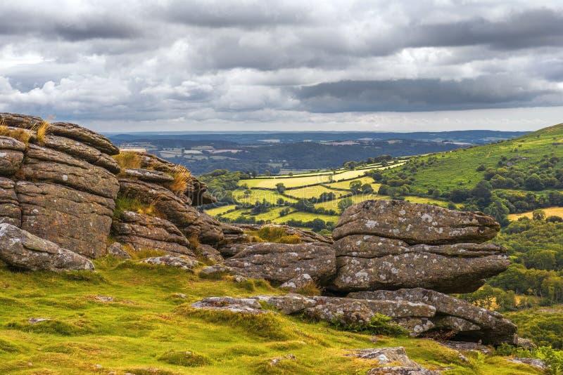 土地的末端风景在康沃尔郡英国 免版税库存照片
