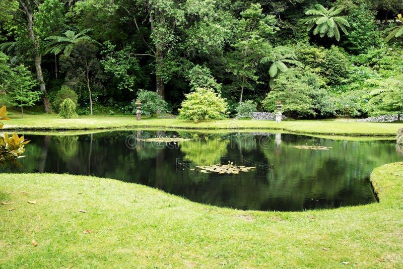 土地Nostra公园,圣地米格尔海岛,葡萄牙 免版税库存图片