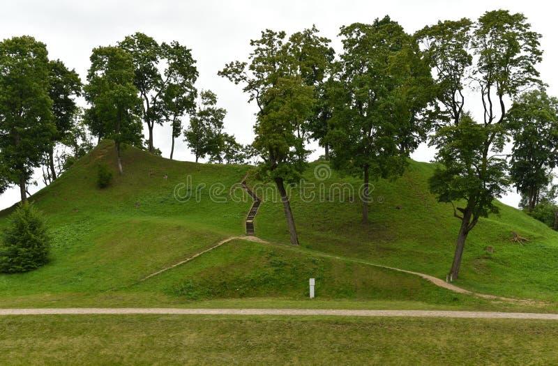 土墩在Ukmerge立陶宛 库存照片