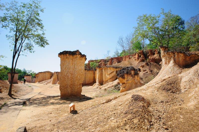 土壤侵蚀,水 库存图片