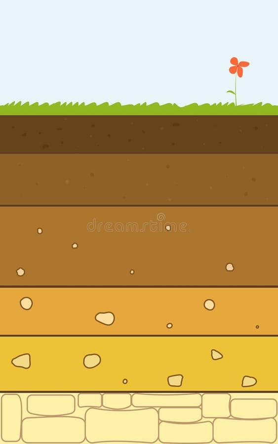 土壤分层堆积传染媒介 库存例证